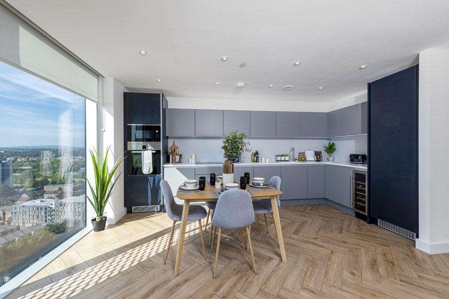 Kitchen In Salford Flat Manchester