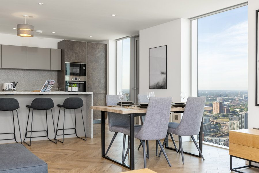 Dining Area In Salford Flat Manchester