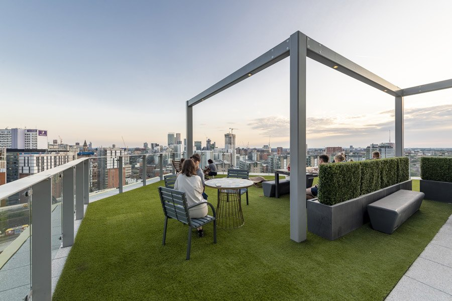 Rooftop bar In Salford Flat Manchester